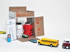 DIY Cardboard Car Wash, cardboard toy for kids
