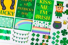 36 St Patrick's Day Stickers - A8 - Oh, Hello Stationery Co.   - 1