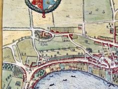Incredibly rare ancient map of London is discovered from 1572 – and the roads are the same | Metro News Old Maps Of London, London Map, Tower Of London, Old London, London City, Great Fire Of London, The Great Fire, Uk History, London History