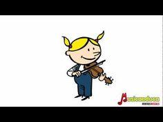 Los instrumentos musicales - Canción infantil - YouTube