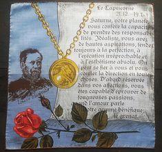 Vintage Unused Cotton Handkerchief Capricorn Zodiac Louis Pasteur Sign