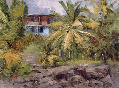 """House on Hana Coast by Mike Wise Oil ~ 9"""" x 12"""" www.mikewisestudio.com"""