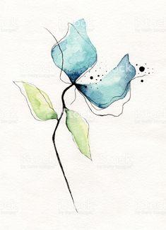 Fleur Aquarelle fleur aquarelle – cliparts vectoriels et plus d'images de fleur - flore libre de droits