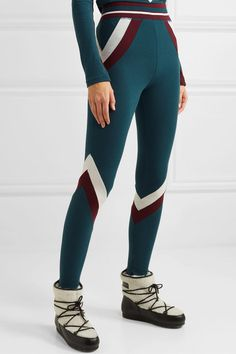 We Norwegians - Voss paneled stretch-merino wool leggings Ski Goggles, Personal Shopping, Spring Style, Merino Wool, Wool Blend, Stretches, Spring Fashion, Leggings, How To Wear