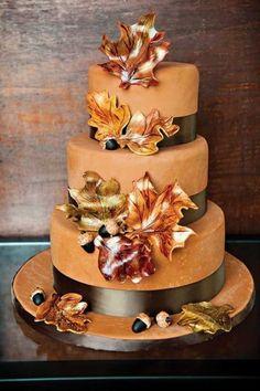 fall wedding cakes 3