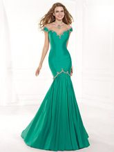 Im312 charme sirène robes de soirée 2016 Long Green robes de bal Scoop Sheer…