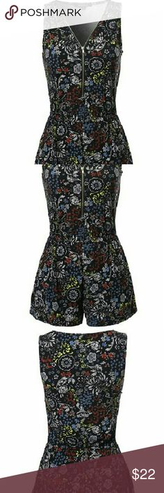 Women's Zipper Front Surplice Romper? Pull On closure. Featuring zip up front, sleeveless, romper style. Machine wash cold. Gentle Cycle. Do not bleach. Tumble dry low. Easy breezy surplice romper in a comfy but feminine cinch waist silhouette adding unique zipper front. Polyester 95% Spandex 5%. Awesome 21 Shorts