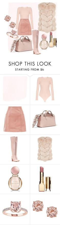 """nudes"" by ivka-detektivka ❤ liked on Polyvore featuring Alix, New Look, Fendi, Gianvito Rossi, Max & Moi, Bulgari and Clarins"