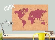 free shipping cork world map large push pin travel by macanaz