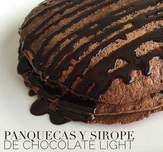 panquecas y sirope de chocolate light