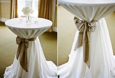 Covering Bistro And Pub Tables For Weddings And Special Events