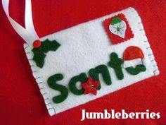 Jumbleberries: Christmas Wish-list Felt Envelope