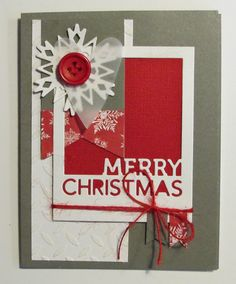 Nicolettes PapirBlog: Weee, min nye die fra Simon Says nåede at komme til disse julekort..