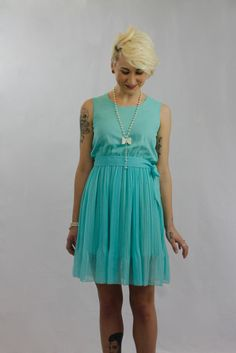 Let's take a stroll in the park. mishpish.com #turquoise #summerdress #dress #pretty