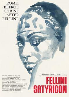 Tony Stella's poster for Fellini Satyricon (1969).