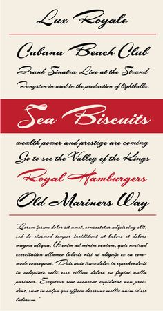 Lux Royale Type Specimen. Lux Royale is a classy script font with a vintage feeling.