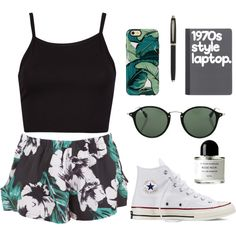 A fashion look from December 2015 featuring The Fifth Label shorts, Converse sneakers and Ray-Ban sunglasses. Browse and shop related looks.