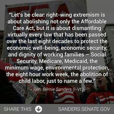 Yes, this is their agenda!  Thank you, Sen. Bernie Sanders