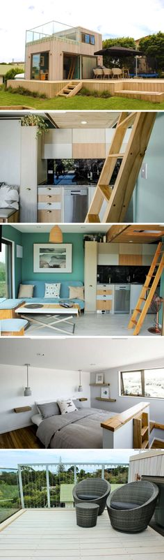 A beach house in Raglan, New Zealand, with 377 sq ft of space