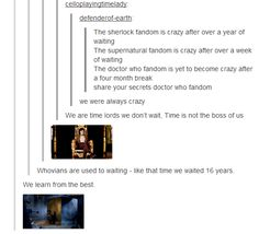 Whovians have been TRAINED. We can relax. If Rory can sit for 2000 years, we can handle four months