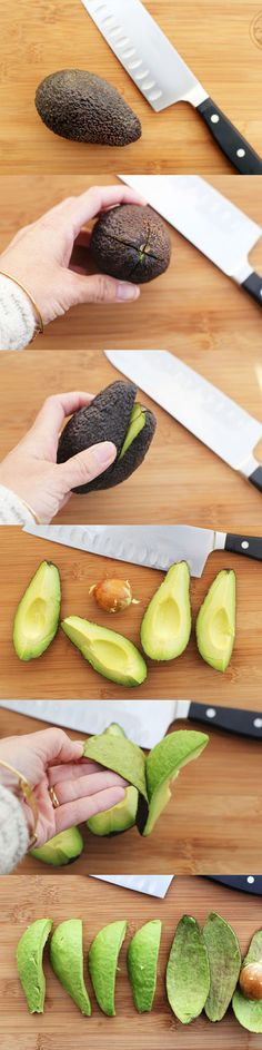 pitting and cutting avocados