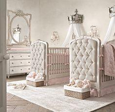Frayed Ruffle Crib Bumper | Bumpers | Restoration Hardware Baby & Child #vintage #baby #nursery #crib