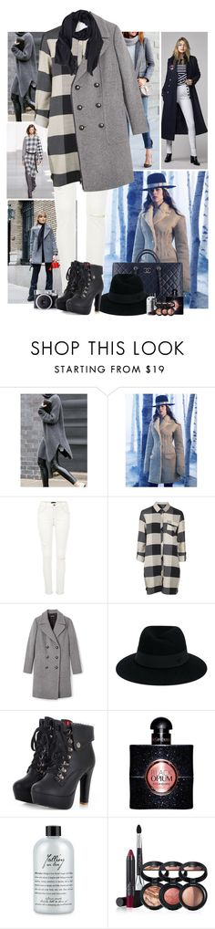 """Grey Fall"" by kerry6590 ❤ liked on Polyvore featuring Calvin Klein, H&M, River Island, Topshop, Chanel, Maison Michel, Yves Saint Laurent, philosophy, Laura Geller and TIBI"
