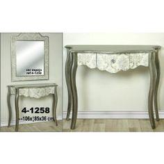 Consola recibidor barroco plata. Consolas para decorar el recibidor en Nuryba.com tu tienda de muebles y decoracion online