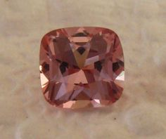 Precision Cut Cushion Peachy Pink Spinel: Nice Alternative to Morganite Engagement Ring, by JuliaBJewelry