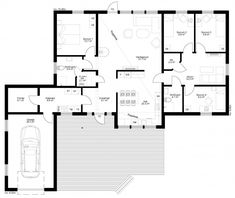 Fyra sovrum och två badrum. Villa Asp har en läcker yttre design med pulpettak, utbyggt kök med fräcka fönster och sammanbyggt garage.