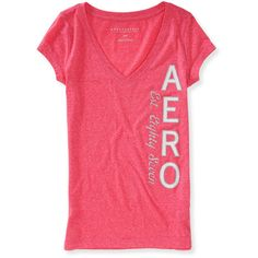 Vertical Sparkle Aero V-Neck Graphic T ($11) ❤ liked on Polyvore featuring tops, t-shirts, gossip pink, v neck tee, slim fit graphic t shirts, v neck t shirts, graphic t shirts and pink tee