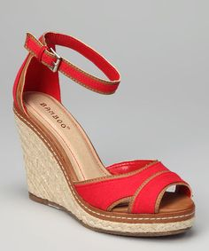 Take a look at this Red Pinot Espadrille by Bamboo on #zulily today! $21.99, regular 43.00