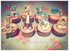 Tatty Teddy's blue nose friends cupcakes These were so fun to make and very proud how they turned out :0)