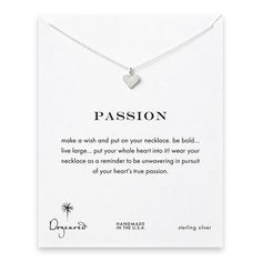 passion perfect heart necklace, sterling silver