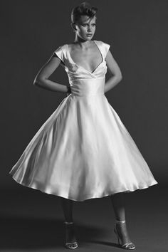 This does not at all look like a wedding dress a modern woman would wear today. I think that the fabric and the neckline would not be the choice of these women.