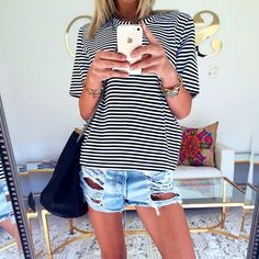 striped top goes with everything