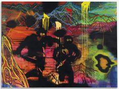 Daniel Richter (German, b. Das Auge War Kaputt [The Eye Was Broken], Oil on canvas, 100 x cm. Daniel Richter, Baroque Art, Aesthetic Painting, Looks Cool, Artist Painting, Dark Art, Mixed Media Art, Art Inspo, Oil On Canvas