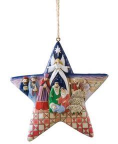 Jim Shore Christmas Ornament, Nativity Star. Jim Shore Christmas Ornament, Nativity Star Home - Misc Holiday Lane. Price: $16.50
