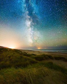 Milky Way over the Oregon Sand Dunes  js