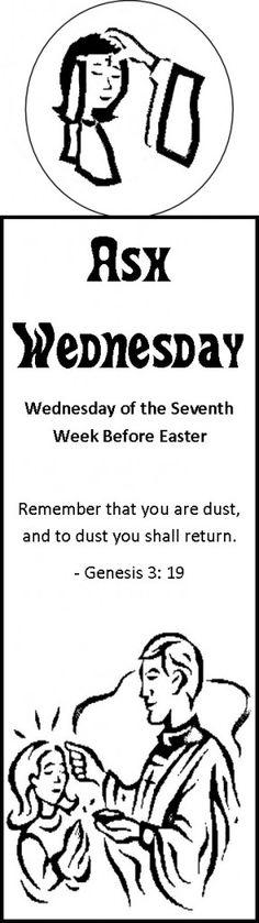 Ash Wednesday Bookmark