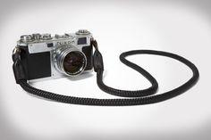 Killspencer Black Bridle Leather + Paracord Camera Strap