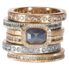 Stacked Rings by Todd Reed | Raw Elegance