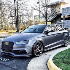 Rather shiny or better matte? #Audi #S3sedan oooo @matte_s3 oooo #audidriven = 'a state of mind' oooo #AudiS3 #S3 #quattroGmbH #greyAudi #Audicolor #turbo #AudiRS3 #RS3 #grey #AudiS #SAudi #supercar #supercars #CarsWithoutLimits #carsofinstagram #amazing #beautiful #car