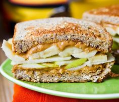 Peanutbutter and Apple Grilled Sandwich.