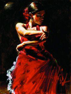 Fabian Perez 1967 ~ Argentine Figurative painter | Flamenco Dancers | Tutt'Art@ | Pittura * Scultura * Poesia * Musica |