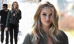 Rosie Huntington-Whiteley looks flawless for Paige jeans photoshoot at the Troubadour club | Daily Mail Online