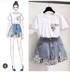 Kpop Outfits, Teen Fashion Outfits, Korean Outfits, Cute Fashion, Chic Outfits, Cute Casual Outfits, Fashion Dresses, Girl Fashion, Korean Fashion Trends