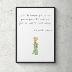 Le Petit Prince Poster, le Petit Prince, impression numérique, scandinave, Illustration, typographie Art, décoration murale, idée cadeau, décoration