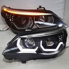 BMW Headlights - for all models Available for both Left Hand Drive and Right Hand Drive LED will stay cool situation and longer life span with NONE color fading Easy installation (Professional installation recommended) Bmw E60 Tuning, Bmw M5 E60, Bmw 535i, Car Tuning, Audi A5 Coupe, Custom Headlights, Led Headlights, Custom Bmw, Custom Cars