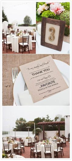 menu cards/thank yous
